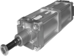 Picture of pneumatic cylinder double acting - tandem to VDMA 24562, NF E 49003.1