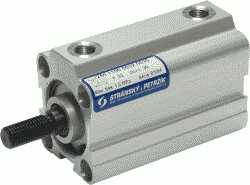 Picture of double acting pneumatic cylinder with short stroke