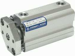 Picture od short stroke double acting cylinder with guide with slide bearings