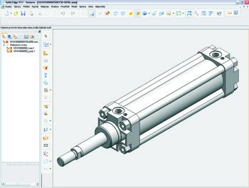 3D CAD model of pneumatic cylinderfor your CAD system