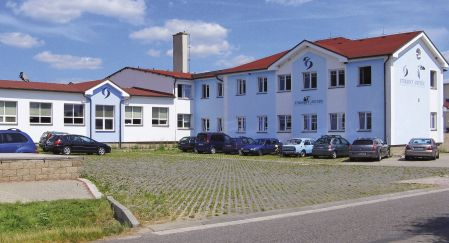 Stransky a Petrzik's building located in Bila Tremesna, Czech Rep.
