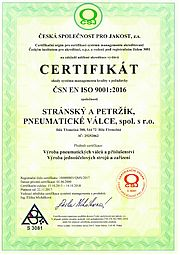 ISO 9001:2016 certificate