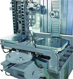 Pohled na otočný stůl strojů řady FMH