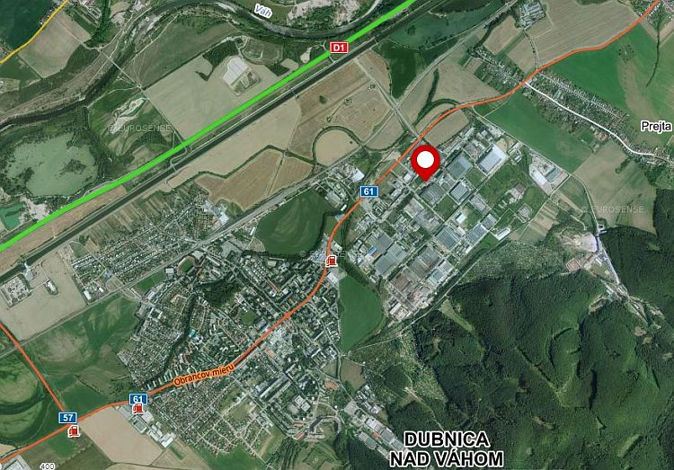 Location map of Stransky a Petrzik SK company