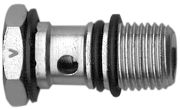 Picture of screw for flow regulation, unidirectional, for valve use, for screw driver setting