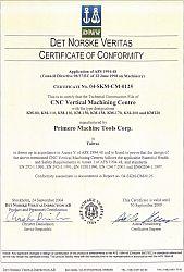 Certifikát CE Primero
