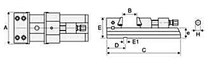 Rozměry svěráků HOMGE